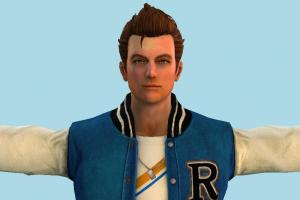 Lollipop Chainsaw Nick Carlyle Boy Male